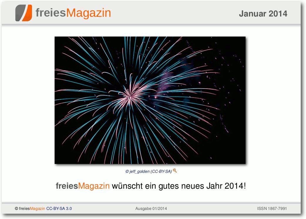 freiesMagazin 01/2014 Titelseite