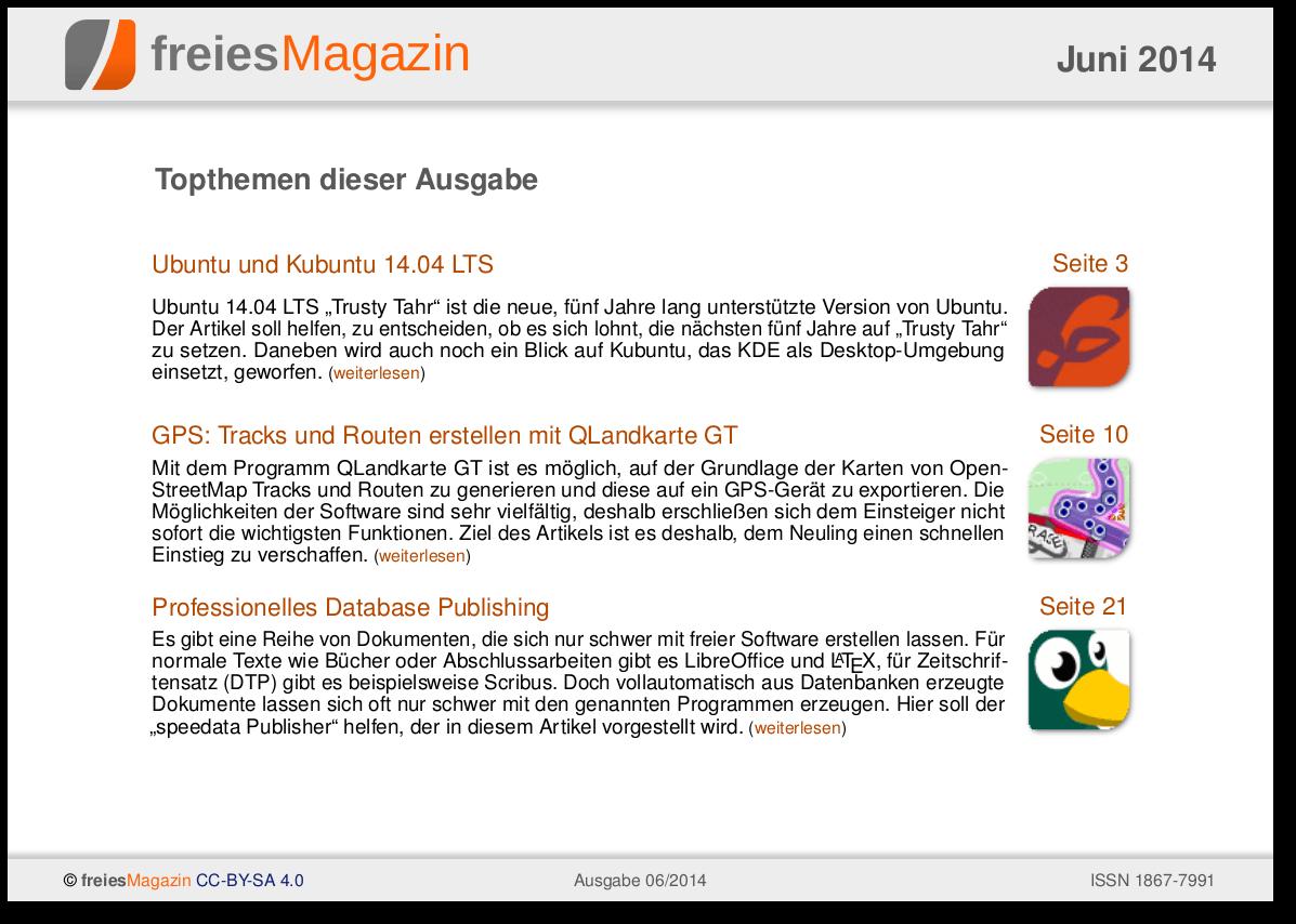 freiesMagazin 06/2014 Titelseite
